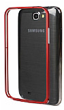 Eiroo Samsung N7100 Note 2 Metal Bumper �er�eve K�rm�z� K�l�f
