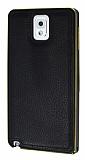Eiroo Samsung N7500 Galaxy Note 3 Metal Kenarl� Beyaz Deri K�l�f
