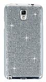 Eiroo Samsung N7500 Galaxy Note 3 Neo Taşlı Silver Silikon Kılıf