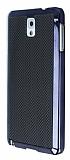 Eiroo Samsung N9000 Galaxy Note 3 Gold Metalik Kenarlı Siyah Rubber Kılıf