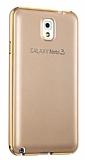 Eiroo Samsung Galaxy Note 3 Metal Kenarl� Gold Rubber K�l�f
