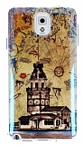 Eiroo Samsung N9000 Galaxy Note 3 Parlak K�z Kulesi Silikon K�l�f