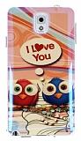 Eiroo Samsung N9000 Galaxy Note 3 Parlak Owl Love Silikon K�l�f
