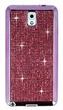 Eiroo Samsung N9000 Galaxy Note 3 Ta�l� Pembe Silikon K�l�f