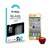 Eiroo iPhone 4 / 4S Tempered Glass Ayna Gold Cam Ekran Koruyucu
