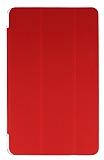 Eiroo Samsung T560 Galaxy Tab E Slim Cover Kırmızı Kılıf