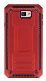 Eiroo Screwed Power Samsung Galaxy J7 Prime Ultra Koruma Kırmızı Kılıf