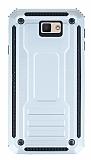 Eiroo Screwed Power Samsung Galaxy J7 Prime Ultra Koruma Silver Kılıf