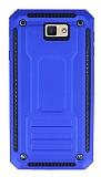 Eiroo Screwed Power Samsung Galaxy J7 Prime Ultra Koruma Lacivert Kılıf