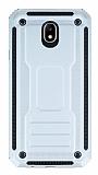 Eiroo Screwed Power Samsung Galaxy J7 Pro 2017 Ultra Koruma Silver Kılıf