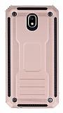 Eiroo Screwed Power Samsung Galaxy J7 Pro 2017 Ultra Koruma Rose Gold Kılıf