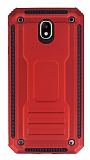 Eiroo Screwed Power Samsung Galaxy J7 Pro 2017 Ultra Koruma Kırmızı Kılıf
