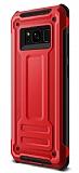 Eiroo Screwed Power Samsung Galaxy Note 8 Ultra Koruma Kırmızı Kılıf