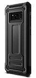Eiroo Screwed Power Samsung Galaxy Note 8 Ultra Koruma Siyah Kılıf