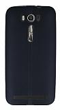 Eiroo Seams Asus ZenFone 2 Laser 5 inç Deri Desenli Ultra İnce Siyah Silikon Kılıf