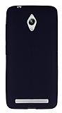 Eiroo Seams Asus ZenFone Go ZC500TG Deri Desenli Ultra İnce Siyah Silikon Kılıf