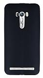 Asus Zenfone Selfie Deri Desenli Ultra İnce Siyah Silikon Kılıf