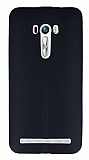 Eiroo Seams Asus Zenfone Selfie Deri Desenli Ultra �nce Siyah Silikon K�l�f