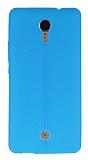 Casper Via E1C Deri Desenli Ultra İnce Mavi Silikon Kılıf