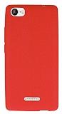 Casper Via M1 Deri Desenli Ultra İnce Kırmızı Silikon Kılıf