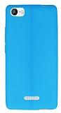 Casper Via M1 Deri Desenli Ultra İnce Mavi Silikon Kılıf