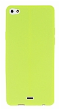 Casper Via V10 Deri Desenli Ultra İnce Neon Sarı Silikon Kılıf