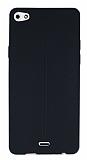 Eiroo Seams Casper Via V10 Deri Desenli Ultra İnce Siyah Silikon Kılıf