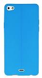 Eiroo Seams Casper Via V10 Deri Desenli Ultra İnce Mavi Silikon Kılıf