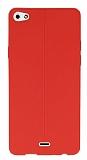 Eiroo Seams Casper Via V10 Deri Desenli Ultra İnce Kırmızı Silikon Kılıf
