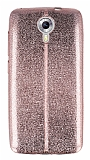 Eiroo Seams Fit General Mobile Android One Ultra �nce Metalik Rose Gold Silikon K�l�f