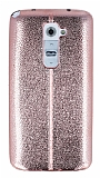 Eiroo Seams Fit LG G2 Ultra �nce Metalik Rose Gold Silikon K�l�f