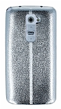 Eiroo Seams Fit LG G2 Ultra �nce Metalik Silver Silikon K�l�f