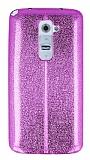 Eiroo Seams Fit LG G2 Ultra �nce Metalik Pembe Silikon K�l�f