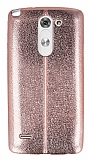 Eiroo Seams Fit LG G3 Stylus Ultra �nce Metalik Rose Gold Silikon K�l�f