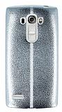 Eiroo Seams Fit LG G4 Beat Ultra İnce Metalik Silver Silikon Kılıf