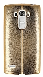 Eiroo Seams Fit LG G4 Beat Ultra �nce Metalik Gold Silikon K�l�f