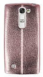 Eiroo Seams Fit LG G4c Ultra �nce Metalik Rose Gold Silikon K�l�f