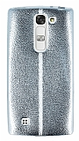 Fit LG G4c Ultra İnce Metalik Silver Silikon Kılıf