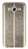 Eiroo Seams Fit Samsung Galaxy J5 Ultra �nce Metalik Gold Silikon K�l�f