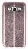 Eiroo Seams Fit Samsung Galaxy J5 Ultra �nce Metalik Rose Gold Silikon K�l�f