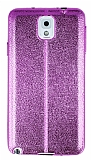 Eiroo Seams Fit Samsung Galaxy N9000 Note 3 Ultra �nce Metalik Pembe Silikon K�l�f