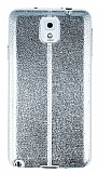 Eiroo Seams Fit Samsung Galaxy N9000 Note 3 Ultra �nce Metalik Silver Silikon K�l�f