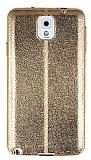 Eiroo Seams Fit Samsung Galaxy N9000 Note 3 Ultra �nce Metalik Gold Silikon K�l�f