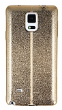 Eiroo Seams Fit Samsung N9100 Galaxy Note 4 Ultra �nce Metalik Gold Silikon K�l�f