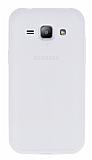 Samsung Galaxy J1 Deri Desenli Ultra İnce Şeffaf Silikon Kılıf