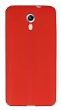 General Mobile Android One / General Mobile GM 5 Deri Desenli Ultra İnce Kırmızı Silikon Kılıf