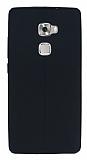 Huawei Ascend Mate S Deri Desenli Ultra İnce Siyah Silikon Kılıf
