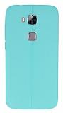 Eiroo Seams Huawei G8 Deri Desenli Ultra �nce Ye�il Silikon K�l�f