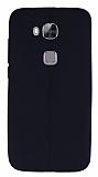 Huawei G8 Deri Desenli Ultra İnce Siyah Silikon Kılıf