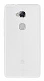 Huawei GR5 Deri Desenli Ultra İnce Şeffaf Silikon Kılıf